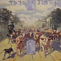 Cattle Drive Down Marion Avenue 1903 Sketch by Michael Vires
