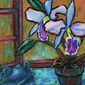Cattleya Orchid And Frog By The Window by Xueling Zou