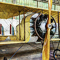 Caudron G3 Propeller And Cockpit - Vintage by Weston Westmoreland