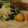 Cauliflower And Pomegranates by Renoir PierreAuguste