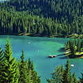 Caumasee Lake Switzerland by Pixabay