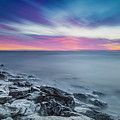 Cave Point Sunrise by Randy Kostichka