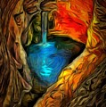 Cavernous Pool In Ambiance by Catherine Lott