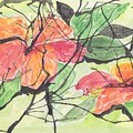 Cayenas Atrapadas  Hibiscus by Ivonne Sequera