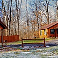 Cayuga Lake Cabins Winter by William Norton