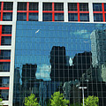 Cbc Building Tv Screen Of Downtown Highrises by Reimar Gaertner