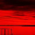 Cedar Creek Lake At Sunset by Evelyn Patrick