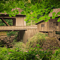 Cedar Creek Mill And Covered Bridge by Don Schwartz