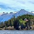 Cedar Home On Bluff by Judy Coggin