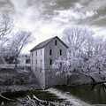 Cedar Point Mill In Infrared by Crystal Nederman
