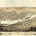 Cedar Rapids Iowa 1868 by Mountain Dreams