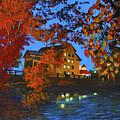 Cedarburg Mill At Night by Haley Grebe