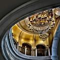 Ceiling And Chandelier In Bellagio by Walt Foegelle