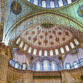 Ceiling Of Blue Mosque by Phyllis Taylor