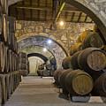 Cellar With Wine Barrels by Anastasy Yarmolovich