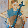 Cello Practice Iv by Jenny Armitage