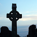 Celtic Cross At Sunset Donegal Ireland by Teresa Mucha