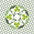 Celtic Inspired Shamrock Graphic by MM Anderson