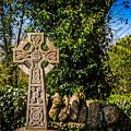 Celtic Knots Decorate A Celtic Cross by James Truett