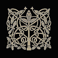 Celtic Leaves Knots One by Donna Huntriss