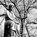 Cemetary Statue B-w by Anita Burgermeister