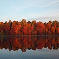 Centennial Lake Autumn - In Full Autumn Bloom by Ronald Reid