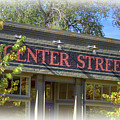 Center Street Cafe Sign by Nick Gray