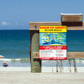 Central Florida Beach Warning by Allan  Hughes