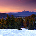 Central Oregon Cascades From Crater Lake by Steve Warnstaff