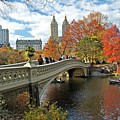 Central Park Autumn Cityscape by Allan Einhorn