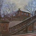 Central Park Bethesda Staircase by Anita Burgermeister