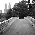 Central Park Bow Bridge With The San Remo by Christopher Kirby