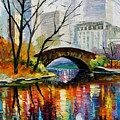 Central Park by Leonid Afremov