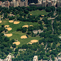 Central Park North Meadow In New York City Aerial View by David Oppenheimer