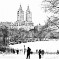 Central Park Snow Lakeside by Regina Geoghan