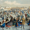 Central Park, Winter The Skating Pond, 1862 by Currier and Ives