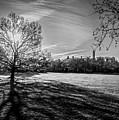Central Park's Sheep Meadow - Bw by James Aiken