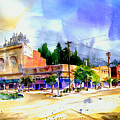 Central Square Auburn by Joan Chlarson