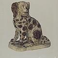 Ceramic Coach Dog by George Yanosko