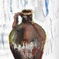 Ceramic Jug - A Watercolor by Eleanor Robinson