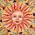Ceramic Sun by Anna Skaradzinska