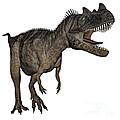 Ceratosaurus Dinosaur Roaring by Elena Duvernay