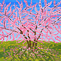 Cercis Tree, Oil Painting by Irina Afonskaya