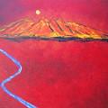 Cerro In Red by Sonia Flores Ruiz
