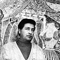Cesar Chavez Stands In Front Of The by Everett