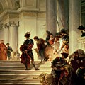 Cesare Borgia Leaving The Vatican by Giuseppe Lorenzo Gatteri