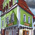 Cesky Krumlov Old Street 3 by Yuriy Shevchuk