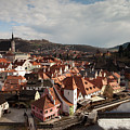Cesky Krumlov View From Castle by Aivar Mikko