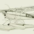 Cessna 180h On Floats by Nicholas Linehan