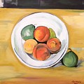 Cezannes Fruit Bowl by Dolores Brittain